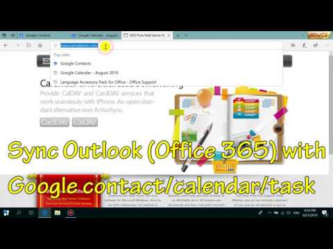 How To Sync Outlook 365 With Google Contacts, Calendar And Task