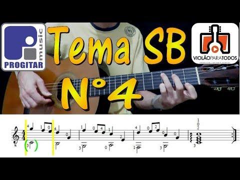 A Partitura e o Violão 10 Tema SB 4 Violão Para Todos