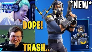 "Streamers React to the *NEW* ""BRAVO LEADER"" Skin & ""TAC BATS"" Pickaxe! 