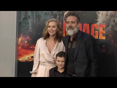 Jeffrey Dean Morgan and Hilarie Burton at Rampage Los Angeles film premiere