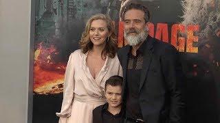 Jeffrey Dean Morgan and Hilarie Burton at Rampage Los Angeles film premiere