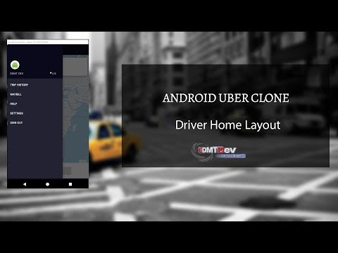 Android Uber Clone - Part 21  Design Driver Home Layout