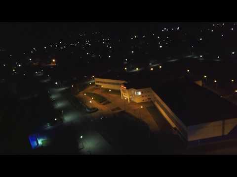 Ночная Шахунья с высоты птичьего полёта