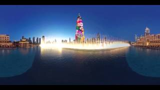 The Dubai Fountain  - The Mother of the Nation 360° video