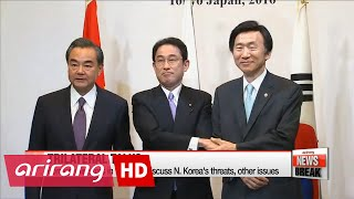 S. Korea, Japan, China's top diplomats meet in Tokyo amid tensions