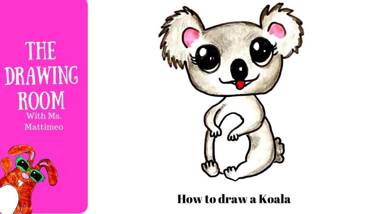 Uncategorized How To Draw A Koala Bear how to draw a cute shop koala bear animals youtube animals