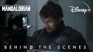 Pedro Pascal Takes Off His Helmet Behind the Scenes Star Wars The Mandalorian | Disney+