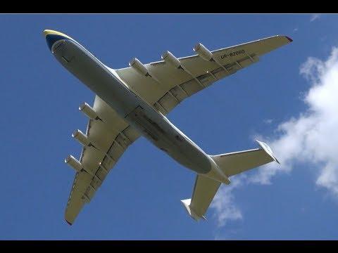ANTONOV 225 landing / Take off at LEJ - biggest plane of ...