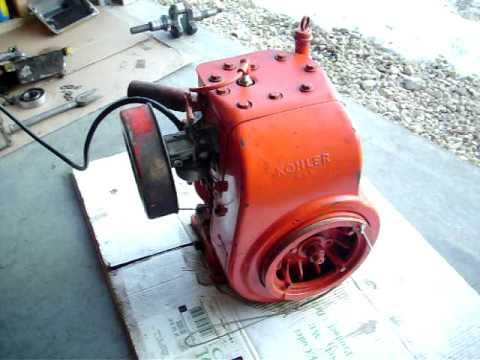 Starting the Rebuilt 12 HP Kohler Engine with no muffler ...