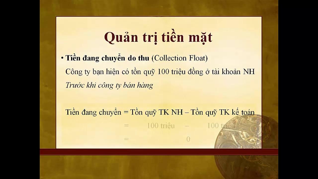 TCDN2 – Chương 7 – Quản trị tài sản lưu động – Ths. Trần Thụy Ái Phương