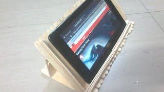DIY: How to make tablet/smart phone holder using popsicle sticks