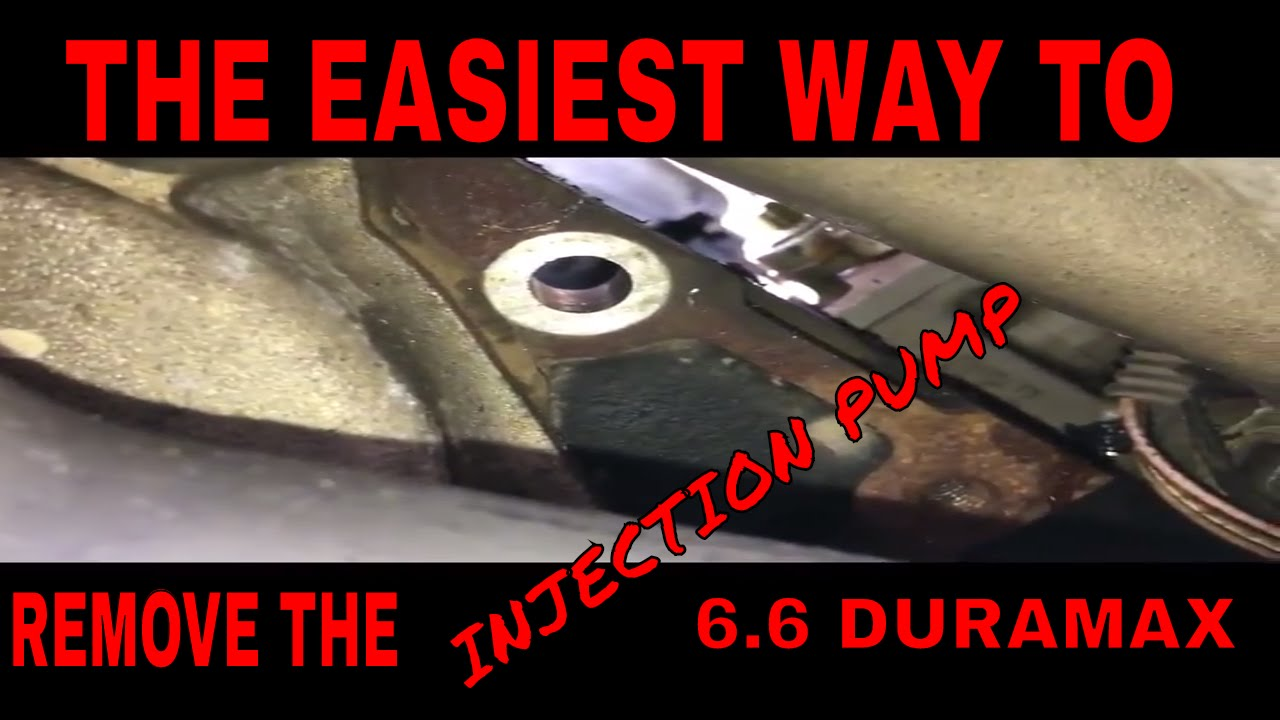 HOW to remove the CP3 INJECTION PUMP FROM A 6 6 Duramax
