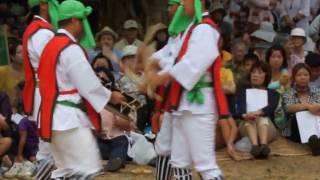 川平村の結願祭でのタイコ