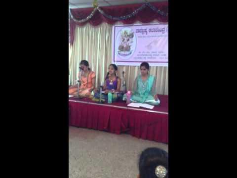 Aditi's song rendition during Navaratri program
