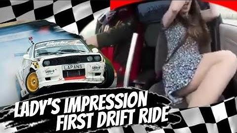 Hidden Camera Caught Lady's Reaction on Her First Drift Ride|#hiddenCam #HabibLeFranco