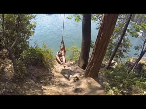 Rope Swing. Bass Lake Best tricks and Double backflip's