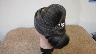 Romantic prom updos / Best Bridal Hairstyle of 2018 || Pakistani Mix Hairstyle || bridal bun | easy