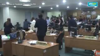 A fistfight involving two councilors of Bacolod city...