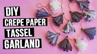 DIY Crepe Paper Tassel Garland