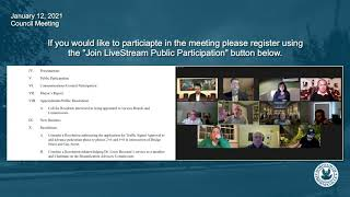 January 12 2021 Phoenixville Council Meeting