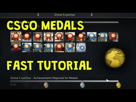 CS:GO FASTEST METHOD TO GET MEDALS! *WORKING NOVEMBER 2017*