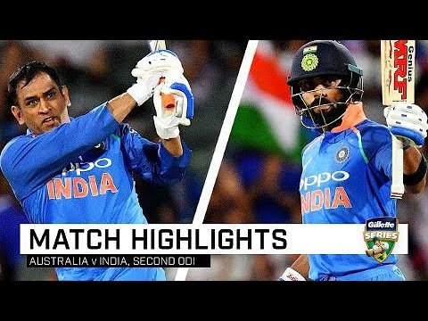 Kohli, Dhoni too good for the Aussies | Second Gillette ODI