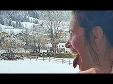 ✅  Promi-Frau zieht sich nach Sauna-Gang den Bademantel runter - Der Anblick erntet Empörung