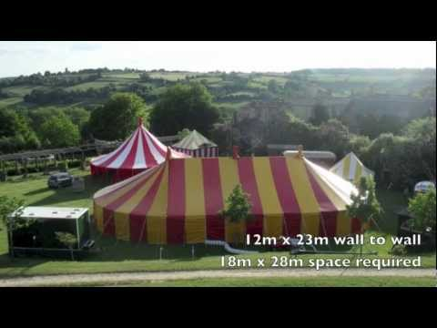 Marquee Hire:12x23m Red and Yellow Circus Bigtop for rent in the U.K. from Bigtopmania.