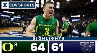 #8 Oregon vs Washington Highlights: The Ducks rally in 64-61 overtime win | CBS Sports