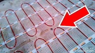 как установить электрический теплый пол под плитку