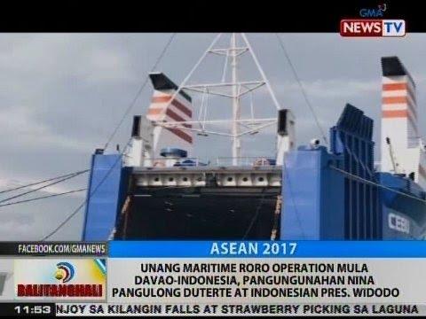 Unang Maritime RoRo operation mula Davao-Indonesia, pangungunahan nina Duterte at Widodo