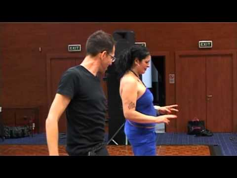 Dandash teaches Shy Bellydancer - song by Amina, bishawesh alaya