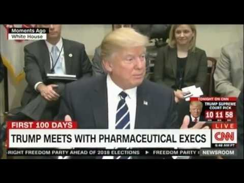 President Trump meets pharmaceutical representatives at White House to cut prices and boost  jobs