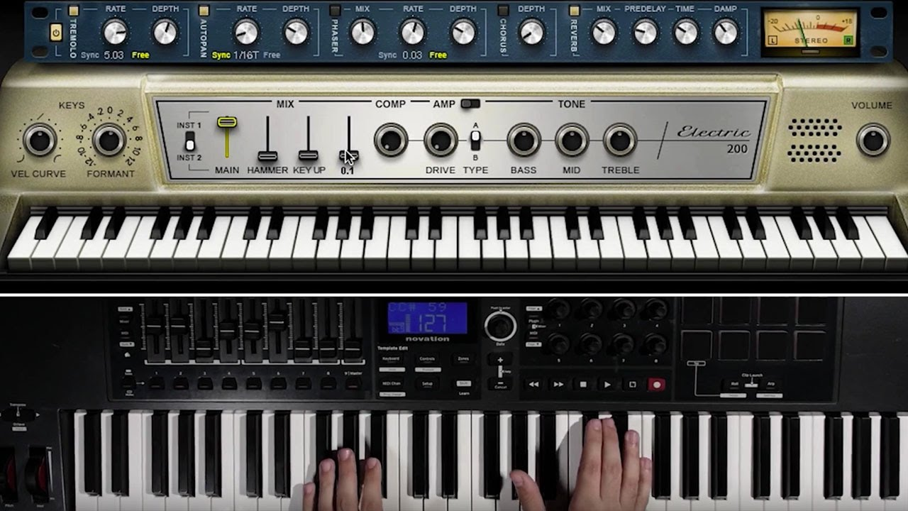 Waves Electric 200 Piano Virtual Instrument Demo