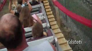 Wooden Roller Coaster at Arnolds Park  on West Lake Okoboji, Iowa
