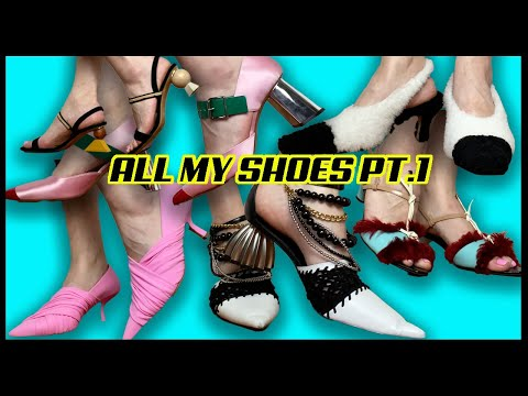 My Luxury Designer Shoe Collection PART 1   2021  CHANEL, GUCCI, PRADA, MARNI, LOEWE...   JASMINAtv