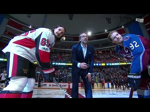 Peter Forsberg drops puck to kick off NHL Global Series in Sweden