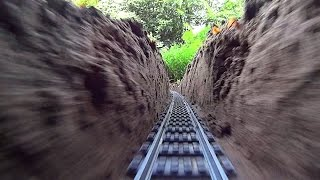Super Long LEGO Train Track Setup Outdoor!
