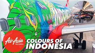 "AirAsia Flight QZ267 Singapore to Jakarta | Special Livery ""Colours of Indonesia"" VLOG"