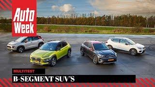 Citroën C3 Aircross vs Hyundai Kona vs Kia Stonic vs Seat Arona - AutoWeek Multitest - Subtitles