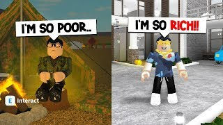 RAGS TO RICHES.. (A SAD ROBLOX BLOXBURG STORY)