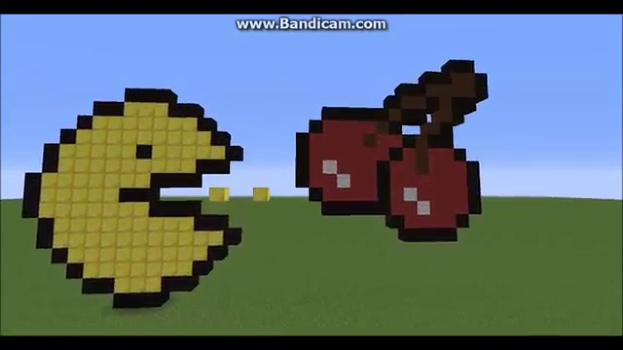 Pacman And Cherry(From Pacman) Pixel Art!