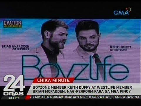 Boyzone member Keith Duffy at Westlife member Brian McFadden, nag-perform para samga Pinoy
