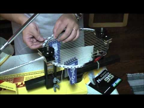 How to string a badminton racket with the Klippermate stringing machine