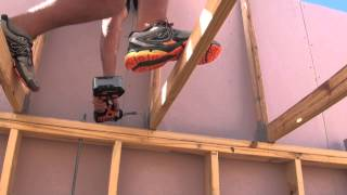 Roof Truss Erection & Tie Down Demonstration For Skillion Roof