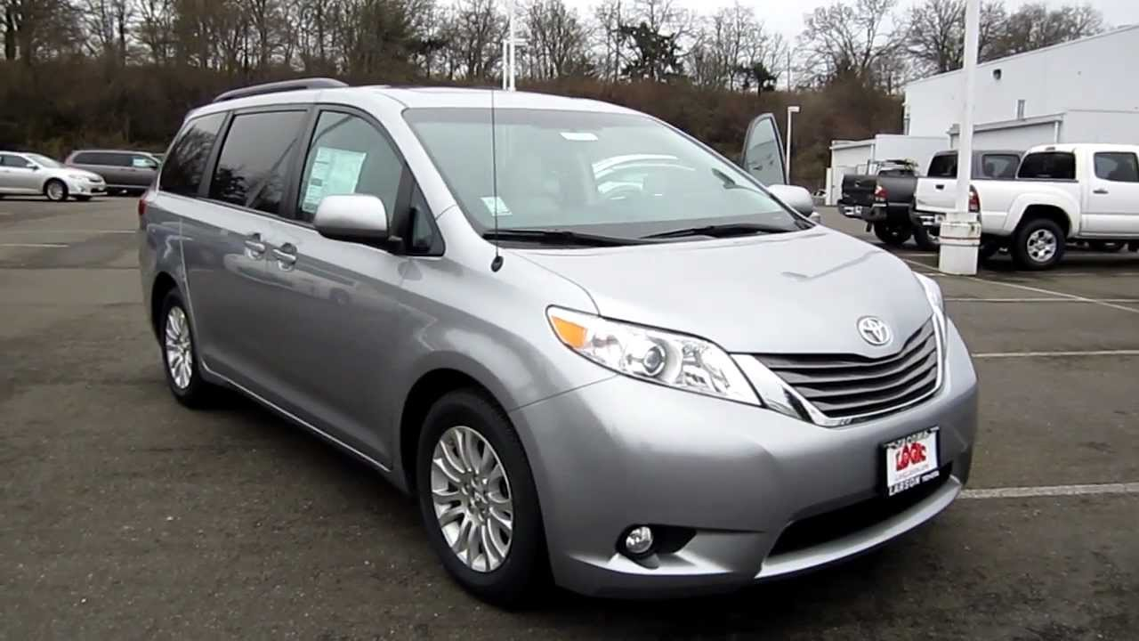 Sienna Vs Odyssey >> 2013 Toyota Sienna XLE, Silver Sky Metallic - Stock# 33292 - Walk around - YouTube