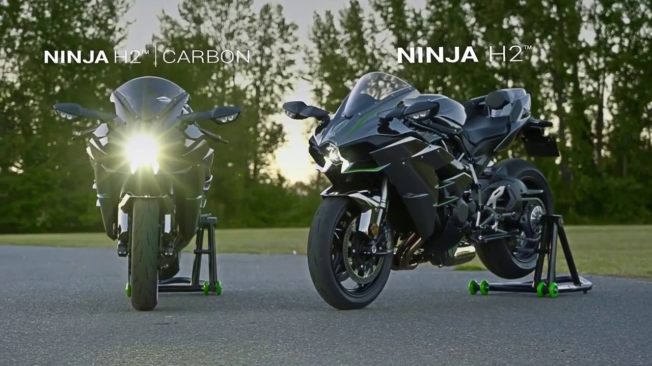 Kawasaki Ninja H2 H2 Carbon 2017 Youtube