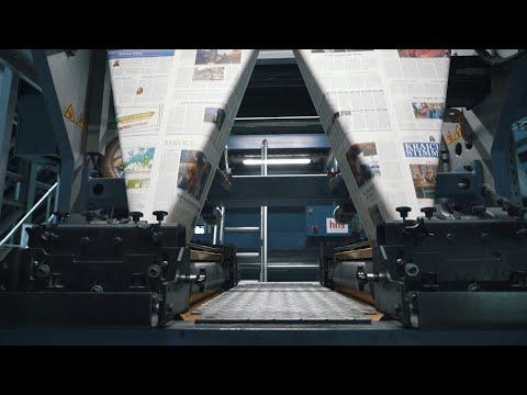 Der Weg der Zeitung durchs Druckhaus
