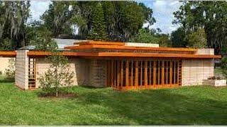 Walk thru a  Brand New Frank Lloyd Wright House