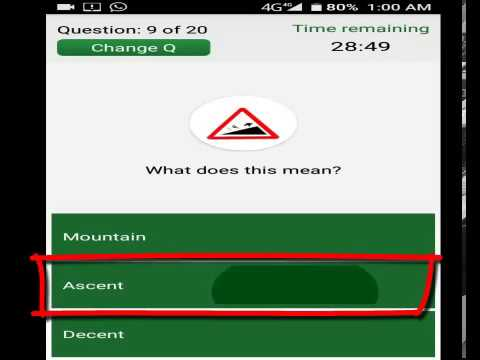 Handbook of driving licence test